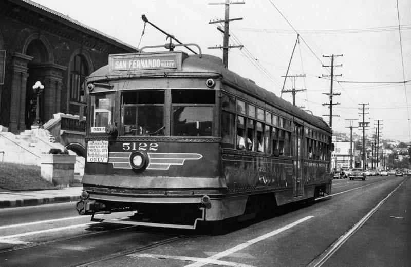 Red Car On Santa Monica Blvd - 1940