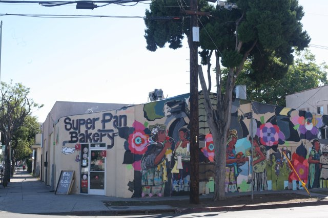 Super Pan Panaderia with 'Matriarch' by Cesar Tepeku at Virgil and Monroe, Los Angeles